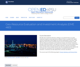 Geo-Resource Evaluation and Investment Analysis