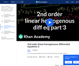 2nd Order Linear Homogeneous Differential Equations 3