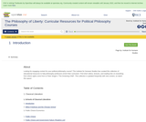The Philosophy of Liberty: Curricular Resources for Political Philosophy Courses