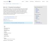 BA 112 - Practical Accounting II
