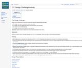 DIY Design Challenge Activity from ISKME's Teacher Academy