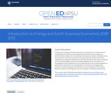 Introduction to Energy and Earth Sciences Economics