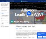 Alliances leading to World War I