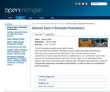 Advanced Topics in Removable Prosthodontics