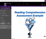 Wisc-Online Reading Comprehension Assessment Example