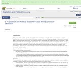 Capitalism and Political Economy