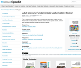 Adult Literacy Fundamentals Mathematics: Book 2