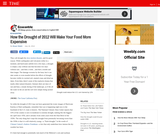 How the Drought of 2012 Will Make Your Food More Expensive reading