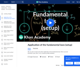 Application of the fundamental laws (setup)
